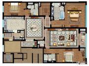 首创天禧3室3厅4卫374平方米户型图