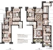 御庭园5室2厅3卫171平方米户型图