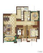 中海凤凰熙岸3室2厅1卫88平方米户型图