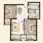 御融公馆2室2厅1卫0平方米户型图