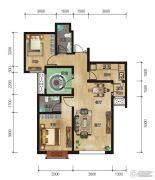 中拓世纪天骄2室2厅2卫99平方米户型图