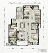 万科金色悦城4室2厅2卫124平方米户型图