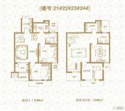 棠悦3室2厅2卫188平方米户型图
