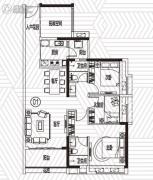 越秀滨海御城3室2厅2卫99平方米户型图