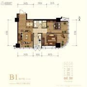 中冶・德贤MINI公馆2室1厅1卫98--106平方米户型图