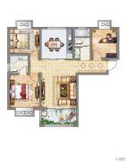 紫御府3室2厅2卫107平方米户型图