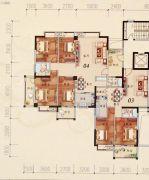 陶然家园4室2厅2卫155平方米户型图
