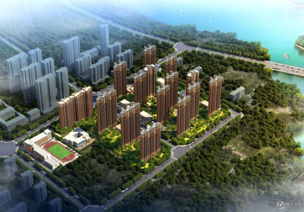 碧桂园·天汇湾鸟瞰效果图