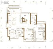 玖颂江湾2室2厅1卫87平方米户型图