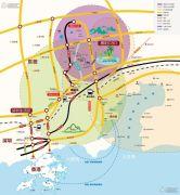 碧桂园山河城交通图