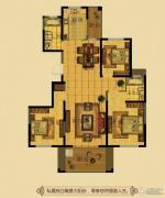 金鼎名府3室2厅2卫130平方米户型图
