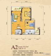 御景江城2室2厅1卫96平方米户型图
