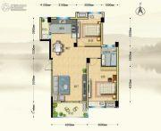 博大江山如画二期2室2厅1卫94--95平方米户型图