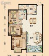 鸿发・东门华府3室2厅1卫112平方米户型图