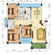 锦绣乾城3室2厅2卫115--136平方米户型图