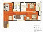 万科汉口传奇唐樾3室2厅1卫93平方米户型图