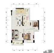 中安止泊园2室2厅1卫87平方米户型图