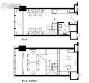沿海国际中心2室2厅1卫53平方米户型图