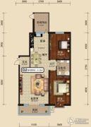 中关国际2室2厅1卫0平方米户型图