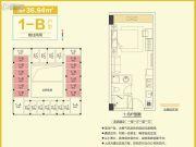 和昌中央悦府・UI空间1室1厅1卫36平方米户型图