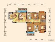 名都东方国际4室2厅2卫138平方米户型图