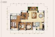 北辰香麓4室2厅2卫136平方米户型图