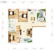 东方美地4室2厅2卫140平方米户型图