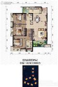 金辉城春上南滨3室2厅2卫97平方米户型图