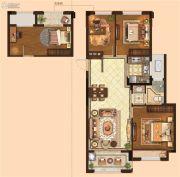 金麟府3室2厅1卫84平方米户型图