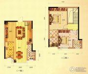 未来城11号2室2厅2卫109平方米户型图