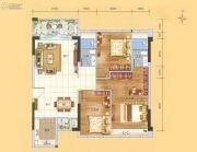 科恒岭南水岸3室2厅2卫115平方米户型图