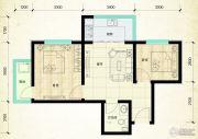 鑫界9号院2室1厅1卫62平方米户型图