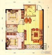 未来城11号2室2厅1卫74平方米户型图