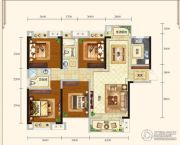 城中半岛3室2厅2卫134平方米户型图