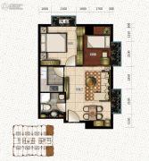 新天地都市广场2室2厅1卫74--85平方米户型图