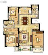 融创中央学府3室2厅2卫130平方米户型图