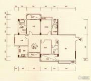 百福豪园3室2厅2卫170平方米户型图