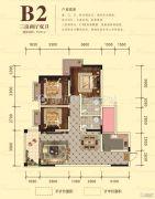 宏升物华天宝五期3室2厅2卫105平方米户型图