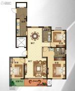 华明星海湾3室2厅2卫148--159平方米户型图