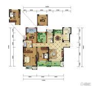 弘阳广场4室2厅2卫140平方米户型图