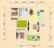 金色港湾2室2厅1卫84平方米户型图