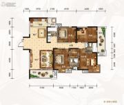 龙湾公馆4室2厅3卫188平方米户型图