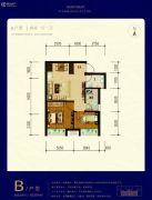 天宁小筑2室1厅1卫63平方米户型图