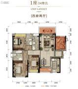 富丰君御4室2厅2卫164平方米户型图