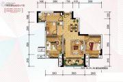 金科天宸2室2厅1卫63平方米户型图