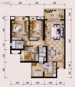 保利西海岸3室2厅2卫120平方米户型图