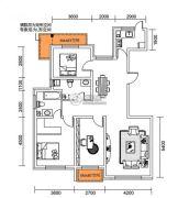 千翔尚城3室2厅2卫129平方米户型图