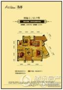 中铁逸都国际3室2厅2卫0平方米户型图