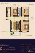 耀圣・御龙湾3室1厅1卫120平方米户型图
