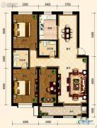 古御壹号3室2厅1卫126平方米户型图